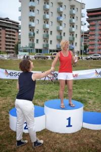 Daniela Martelli prima di categoria al Triathlon Olimpico di Pesaro