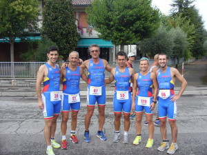 La squadra dell' Imola Triathlon al duathlon di Solarolo