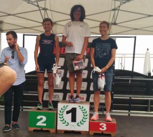 Francesca Benzi, 3a classificata di categoria M1 nell' IronDelta di Lido delle Nazioni