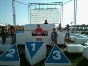 Daniela Martelli al primo posto della categoria M3 al Garmin Trio Forte dei Marmi