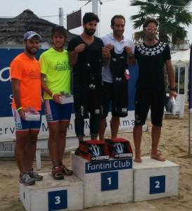 Santandrea Mattia e Cavina Luca terzi classificati al triathlon a coppie di Cervia