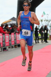 Cavina Luca all'arrivo della prima tappa del Grand Prix Triathlon a Rimini