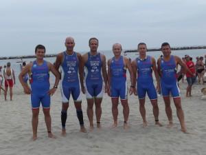 La squadra dell' Imola Triathlon presente domenica 13 settembre all'olimpico di Lido delle Nazioni