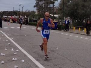 Clavio Righini al Triathlon olimpico di Lignano Sabbiadoro