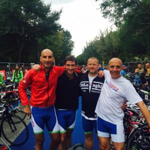 La squadra composta da Pietro Rocchi, Luciano Carapia, Maurizio Musconi e Carlo De Franco
