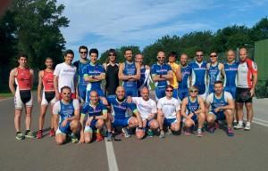 L'Imola Triathlon durante l'allenamento combinato all'autodromo di Imola