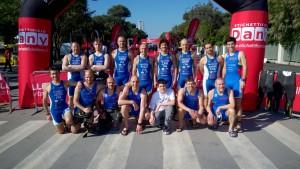 La squadra dell'Imola Triathlon al triathlon sprint di Rimini