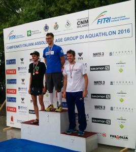 Luca Cavina 3° ai campionati italiani di Aquathlon 2016