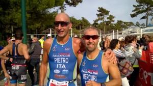 Pietro Rocchi e Davide Mercuri al triathlon olimpico di Lignano Sabbiadoro