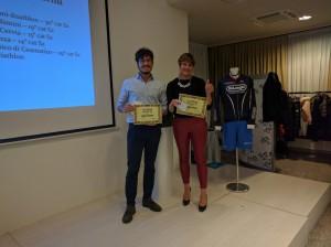 Andrea Zaccherini e Giorgia D'Angeli premiati rookie dell'anno 2016 Imola Triathlon