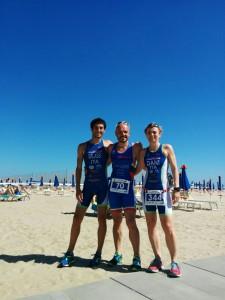 Galassi, Marzocchi e Martelli allo sportur triathlon sprint di Cervia