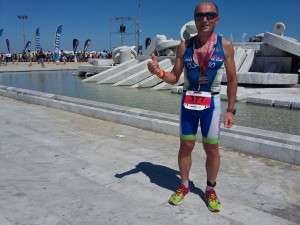 Clavio Righini finisher all' Ironman 70.3 di Pescara