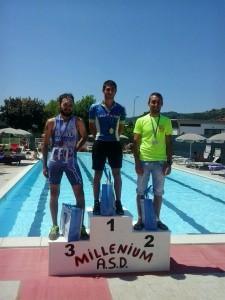 Fabio Galassi vincitore del Millenium Triathlon di Fognano