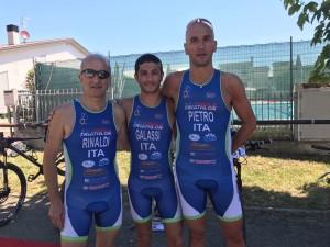 Rinaldi, Galassi e Rocchi al Millenium Triathlon