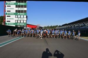 La partenza della prima edizione della Ciclistica Imola Triathlon