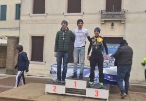 Fabio Galassi sul podio del duathlon dei Tempesta