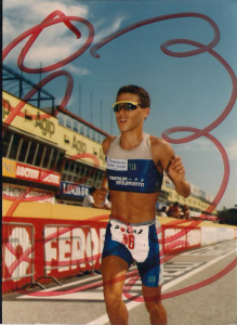 Luca Bettini al duathlon di Imola del 1994.