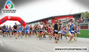 Partenza del Duathlon Sprint di Imola (Foto: FotoSportNew)
