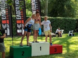 Daniela Martelli 3a M4 al triathlon sprint Persiceto