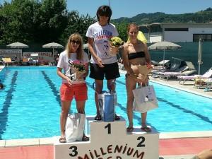 Francesca Venieri, 3a assoluta al Millenium Triathlon di Fognano di Brisighella